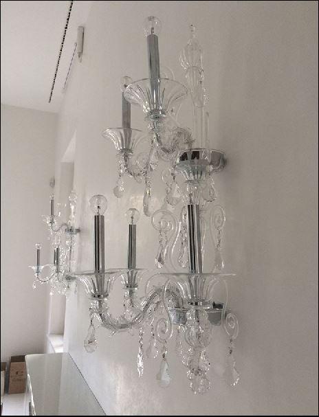 Bottega Veneziana | Applique Stile Ca' Rezzonico modello MARIN vetro soffiato di Murano c
