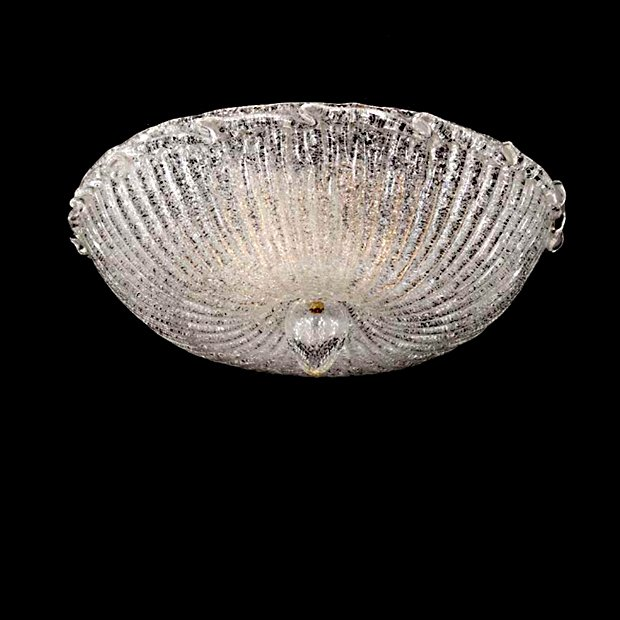 Bottega Veneziana | Plafoniera modello BETULLA in vetro di Murano granigliato. Prodotto l