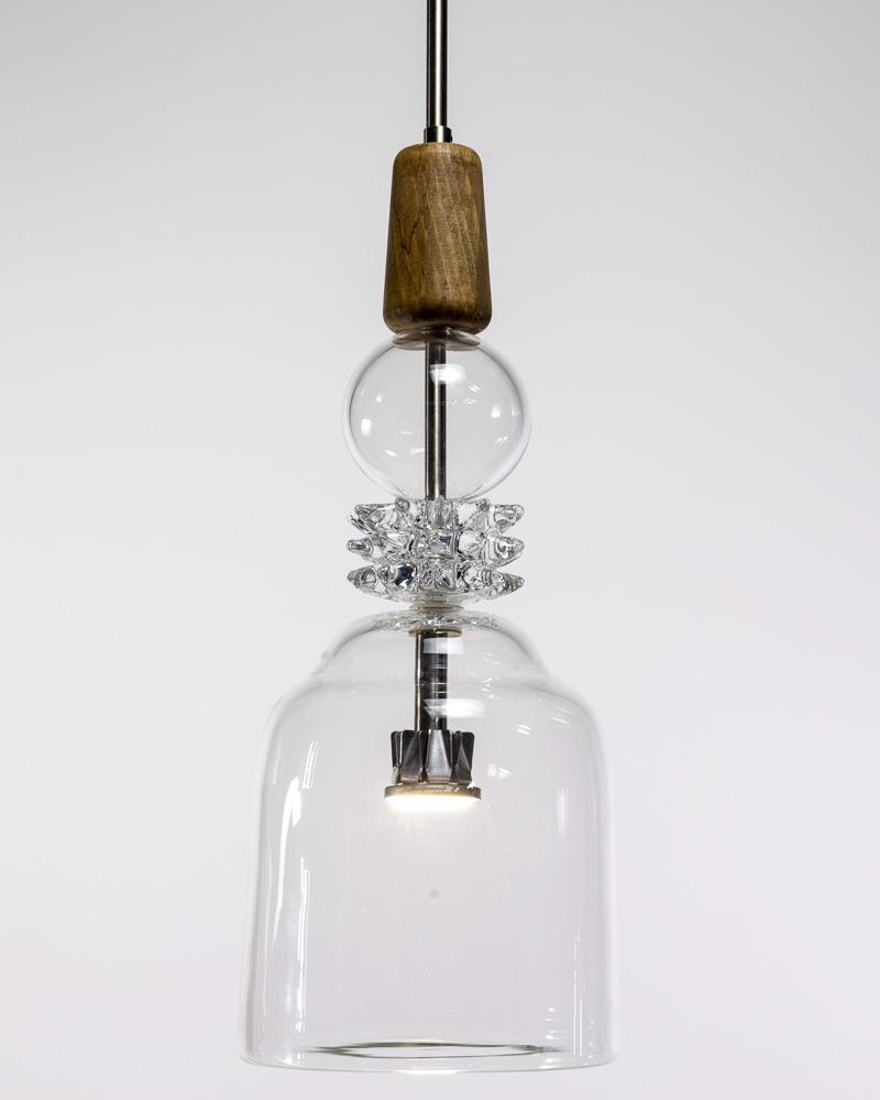 Bottega Veneziana | Sospensione A Sospensioni JOVI023 H.45 D.25 Cristallo Cristallo